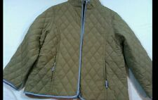 John Partridge Quilted Light Weight ZIP JACKET W/Beige LINING SIZE L