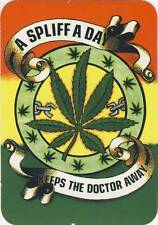 A Spliff A Day Keeps The Doctor Away I - Drugs Peace - Aufkleber Sticker #223