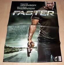 Filmposter Filmplakat DIN A1 59 x 84 cm - Faster - Dwayne Johnson - Neu