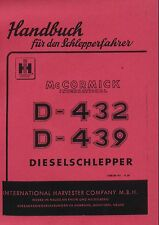 Betriebsanleitung D-432 D-439 Mc Cormick IHC D-Serie Sonn