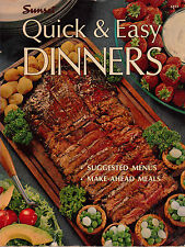 QUICK & EASY DINNERS Sunset MAKE AHEAD MEALS, MENUS Lge softcover GREAT RECIPES