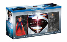 Man of Steel Collectible Figurine Ltd Edition Gift Set Blu-Ray/DVD/UV