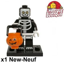 Lego - Figurine Minifig Minifigurine série 14 monsters Skeleton halloween NEUF