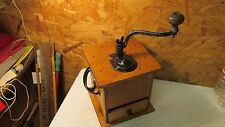 Antique Wood Table Top Coffee Grinder Mill Restored