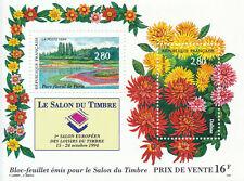 France**Salon Timbres 1994-SHEET/BLOC-FLOWERS-DAHLIAS-TREES-Fleurs-Bloemen-Flor
