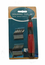 RDGTOOLS DEBURRING TOOL WITH 20 BLADES REMOVES SHARP METAL BURRS FROM WORKPIECES