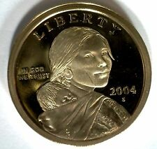 2004 -S SACAGAWEA Golden Dollar Native American PROOF Coin US Mint MADE IN USA