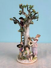 "Stunning 11"" Meissen Figure Group The Apple Pickers 19thC c.1880 Porcelain Antiq"