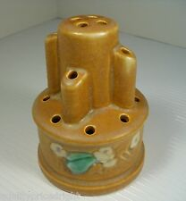 Roseville Art Pottery Ca. 1937 RARE Clemana Tan Flower Frog 23-4 ART-CRAFTS