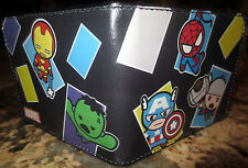 The Avengers Marvel Comics Kawaii Avengers Bifold Wallet- NEW