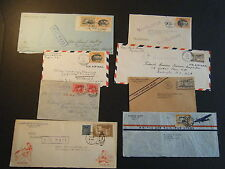 EIGHT 1936/41 Commerical non-philatelic Philippines to US CHINA CLIPPER COVERS D