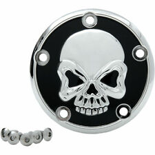 CHROME PLATED SKULL POINTS COVER FOR HARLEY-DAVIDSON 1999-2014 TWIN CAM MODELS