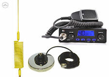 CB RADIO + CB ANTENA SPRINGER YELLOW + MAGNETIC BASE 27 mHz