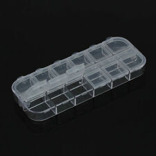 12 Cell Empty Storage Box Case False Nail Art Set Tips Gems Glitter Storage