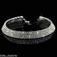 5 Row Crystal Simulated Diamante Rhinestone Chocker Necklace Choker Diamond neck