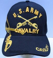 U.S.Army Cavalry Veteran Cap/Hat Military Black New *Free Shipping*