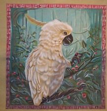 H. Calderon Susan Roberts Cockatoo Handpainted Needlepoint Canvas