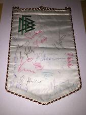 25x handsigned WIMPEL/pennnant DFB-Amateur-Nationalmannschaft ca.'74! Autogramme