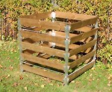 Komposter 90 x 90 x 100 cm aus Aluminium und Lerchenholz Holzkomposter