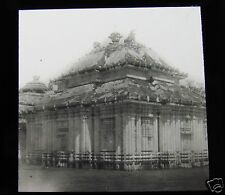Glass Magic Lantern Slide GARDEN TEMPLE C1910 INDIA