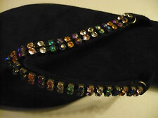 DREAMKEEPER MULTI COLOURED CRYSTAL JEWELLED TOE POST T BAR SANDALS size 6 BNEW