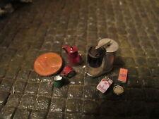 Cafetera máquina vaso cigarrillos diorama decorativas accesorios 1/18