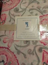 1 POTTERY BARN KIDS CASEY DUVET COVER PINK GREY FLORAL FULL/QUEEN NO SHAM
