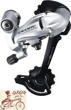 SHIMANO DEORE M591-SGS 9-SPEED LONG CAGE SILVER MTB REAR BICYCLE DERAILLEUR
