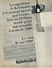 PUBLICITE   1966   KELVINATOR  réfrigérateur