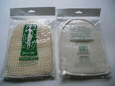 "Lot of 2 Exfoliating Natural Sisal Bath Mitt Scrub Pad (6""x8"") Spa Loofah loofa"