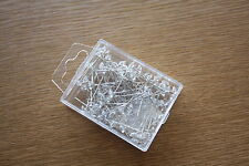 100 x CLEAR CRYSTAL HEADED PINS 5mm x 35mm BRIDAL WEDDING FLORAL CRAFTS