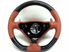 Porsche 996 986 T96 steering wheel carbon conversion Turbo C4S Cinnamon Brown