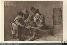 Adriaen Brouwer Zwei Kartenspieler  Two Card Players Old Unposted Postcard