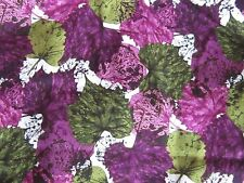 Shabby french country romantic chic purples & greens leaf fabric material sewing