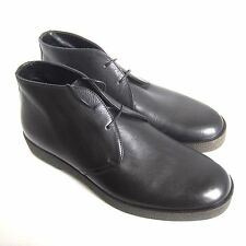 C-1350125 New Ermenegildo Zegna Leather Ankle Boots Shoes Size US 9 Marked 8