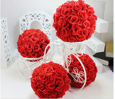 Red Rose Flower Ball Pomander Wedding decoratin Ball Kissing Ball 16 inches