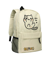 Game Neko Atsume Cat Backyard Anime Kawaii Shoulder bag School Backpack Big