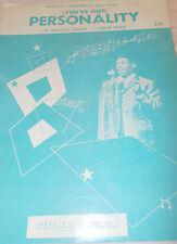 LLOYD PRICE - PERSONALITY ( YOU'VE GOT ) - OZ 4 PAGE SHEET MUSIC - R&B - SOUL