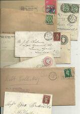 1855/1970 9 histoire postale postes EX Bradford-enregistrée chiffre duplex BD code