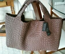 Falorni FALOR La Borse ITALIAN BROWN Hand Woven Texture Leather Tote/Handbag~NWT