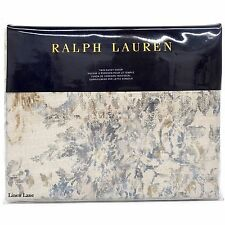 RALPH LAUREN Corso Campania TWIN DUVET COVER NWT Floral Scroll COTTON Blue Navy