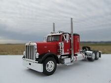 DCP 1/64 SCALE 379 PETERBILT SMALL BUNK RED WITH BLACK TOP AND FENDERS
