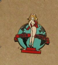 A-3   VINTAGE PIN PINUP MISS MONDE NUDE EARTH