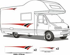 MOTORHOME VINYL GRAPHICS STICKERS DECALS SET CAMPER VAN RV CARAVAN HORSEBOX set2