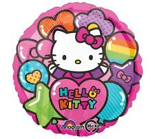 Hello Kitty Rainbow Foil Mylar Heart Shaped Balloon 1 Per Package New