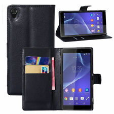 HOUSSE ETUI COQUE CUIR LUXE PORTEFEUILLE A RABAT SONY ERICSSON XPERIA Z3