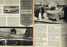 PUBLICITE ADVERTISING 025  1959  SIMCA  ARIANE  ( 2p)