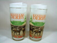 2 Vintage Official 1985 Kentucky Derby Mint Julep Glass Churchill Downs Mint