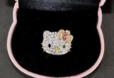 AUTHENTIC SANRIO HELLO KITTY RHINESTONE RING ADJUSTABLE SZ 4.5-7 KITTY GIFT BOX