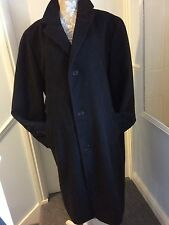 Gents M+S  3/4 length Italian wool blend water repellant coat size XL